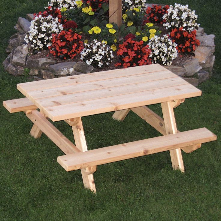 Best 20 kids picnic table ideas on pinterest kids for Wheelchair accessible picnic table plans
