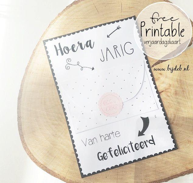 Zelf ook deze super leuke verjaardags kaart met geld envelopje maken? Kijk op www.bijdeb.nl