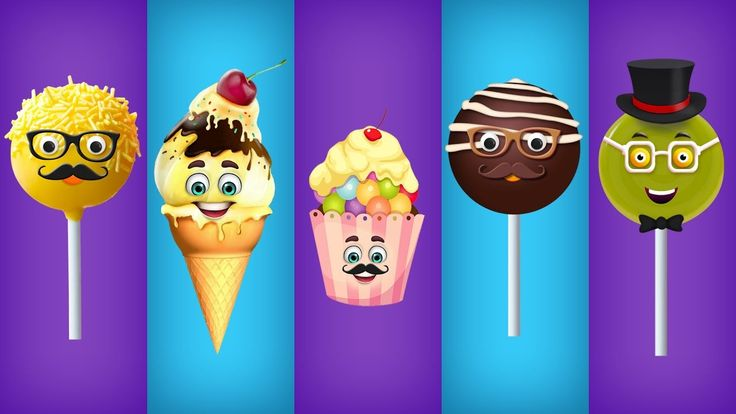 Cake Pop, Ice Cream, Cup Cake, Chocolate and Lollipop Finger Family Songs Collection
