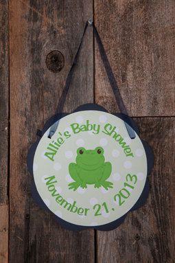 Frog Door Hanger  Frog Baby Shower by getthepartystarted on Etsy, $9.00