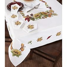 Craftways® Autumn Glory Table Linens Stamped Cross-S...