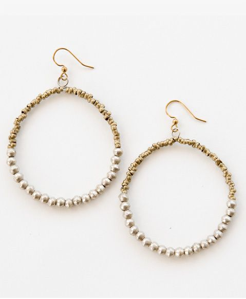 Strong and resilient with an understated grace--you and these earrings were made for each other! Pair with our new Metallic Pearls Necklace and Metallic Pearls Bracelet for a complete upcycled look.