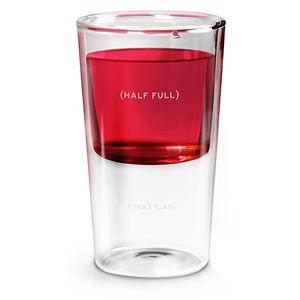 Half Full Optimist's Glass