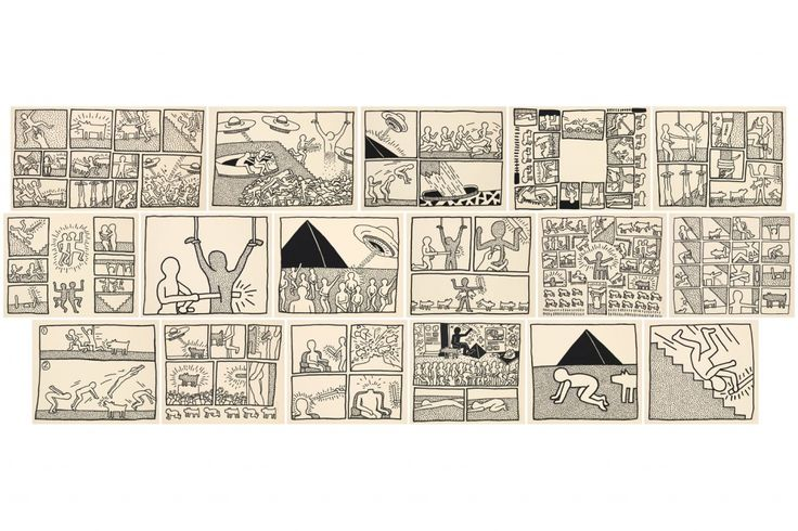 Keith Haring: The Blueprint Drawings (Portfolio), 1990 | Pace Prints