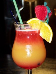 Hawaiian Punch (1/2 oz. Vodka 1/2 oz. Southern Comfort 1/2 oz. Amaretto 1 oz. Orange Juice 1 oz. 7-up or any Lemon-Lime Soda Splash Grenadine)