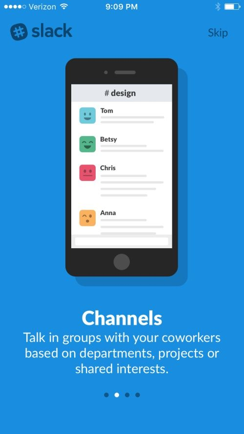 Slack - Team Communication Screenshots