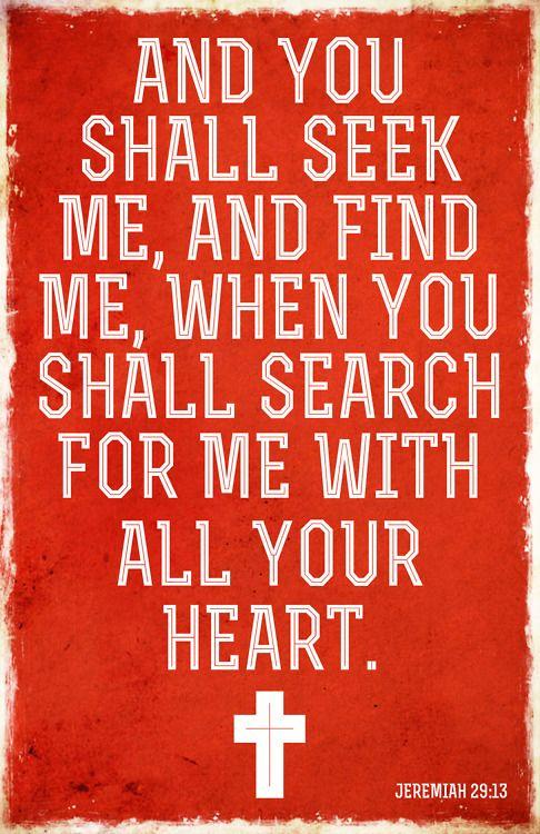 Jeremiah 29:13 Bible Scripture