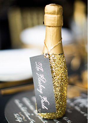 Pop champagne wedding favors