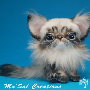 Ma'Sal Original / Dolly Kitten HImalayan / Posable / Direct from the Artist OOAK