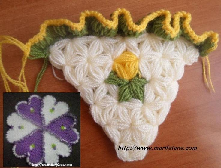 Firfirli Lif Nasil Örülür.. Crochet Washcloth pattern:http://www.marifetane.com/