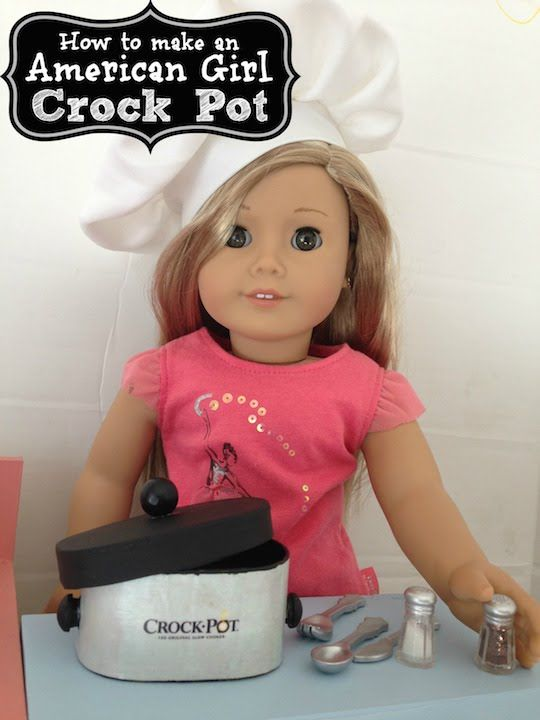 How to make a Crock Pot for your American Girl Doll