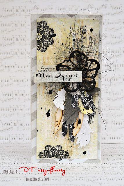 Kartka z piórkami / A card with feather