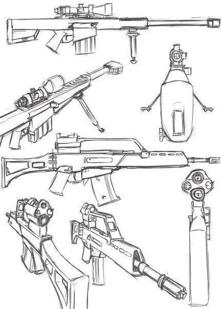 como dibujar rifles dibujos pinterest pistola dibujo cómo