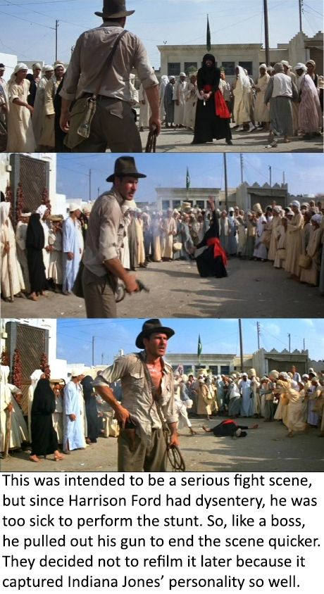 "Indiana Jones fact - So remember, Indiana Jones shot. Period. ""First"" implies the other guy shot at all."