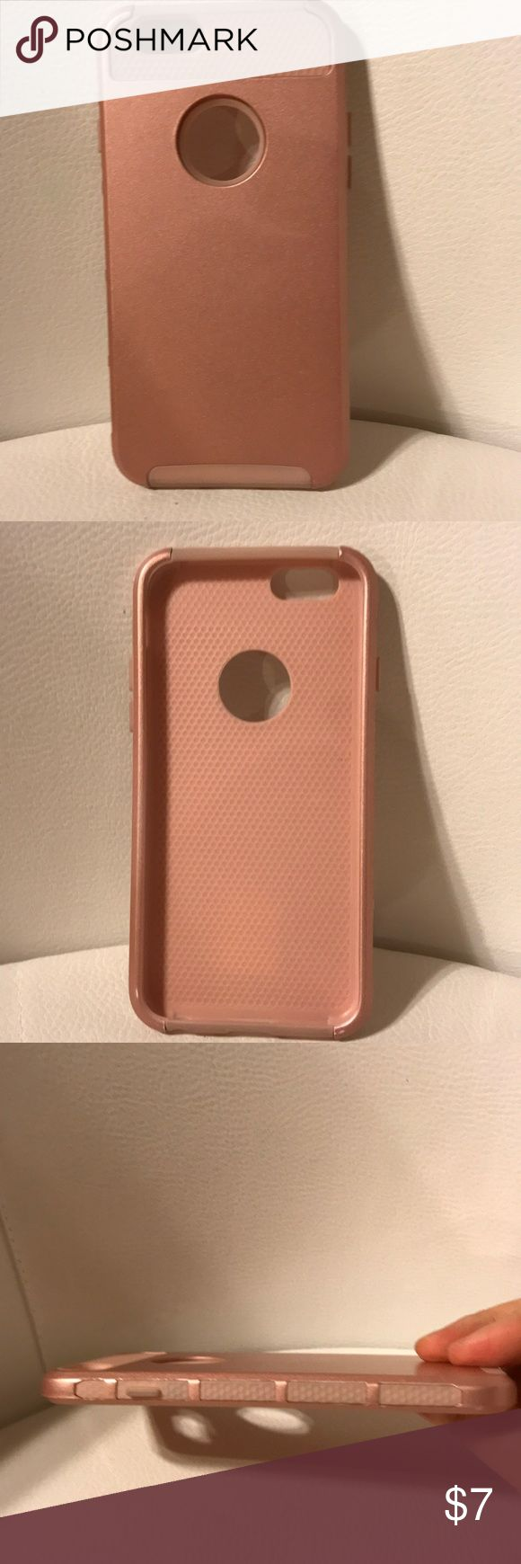 iPhone 6,6S Case Pink in great condition. Offers welcome. iPhone 6 , 6s Case, MTRONX Hybrid Hard PC & Soft Silicone Heavy Duty Rugged Bumper Shockproof Anti-Scratch Protective Back Cover Cases for Apple iPhone 6, iPhone 6s-Rose Gold(HC-RGRG) Accessories Phone Cases