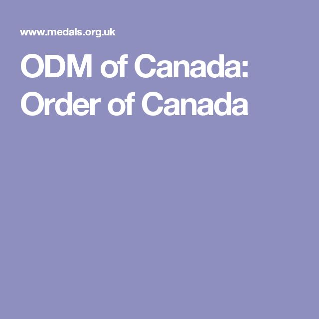 ODM of Canada: Order of Canada