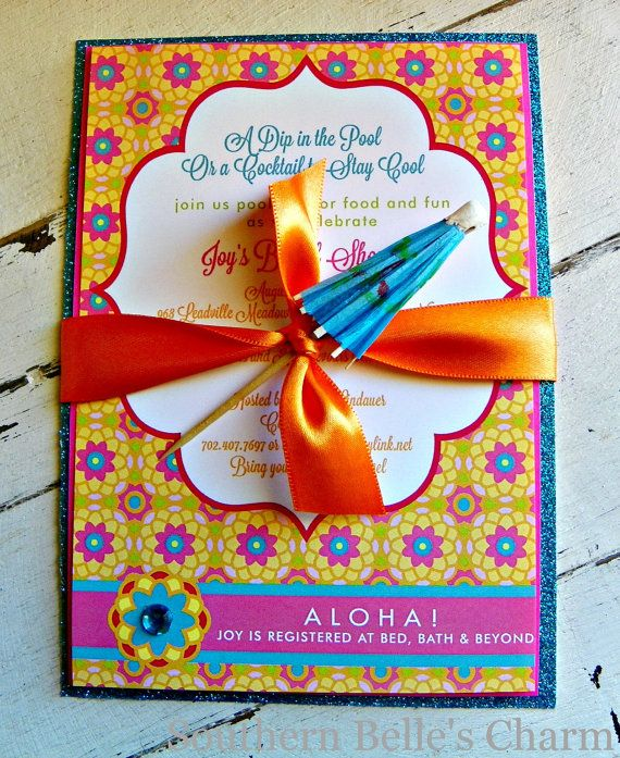 61 best Pool party images – Creative Pool Party Invitations
