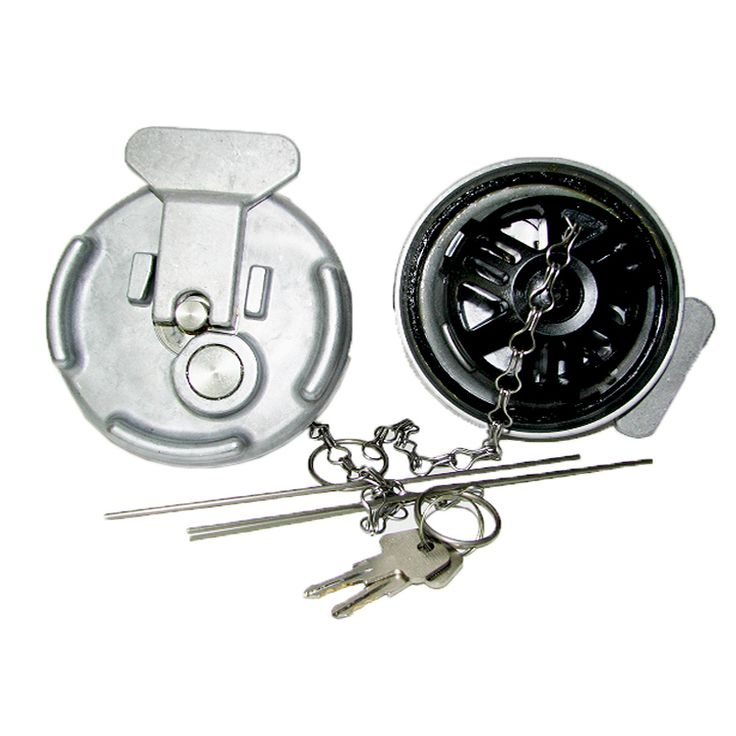 "Raney's Truck Parts - Peterbilt 4"" Locking Fuel Cap, $148.00 (http://www.raneystruckparts.com/peterbilt-4-locking-fuel-cap/)"