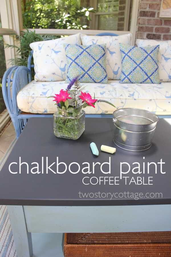 Chalkboard Coffee Table - for outdoor deck seating area