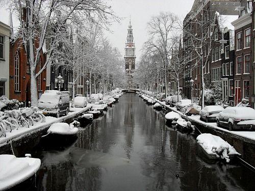 Amsterdam in Snow