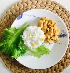 Курица в сливочном соусе с  кукурузой