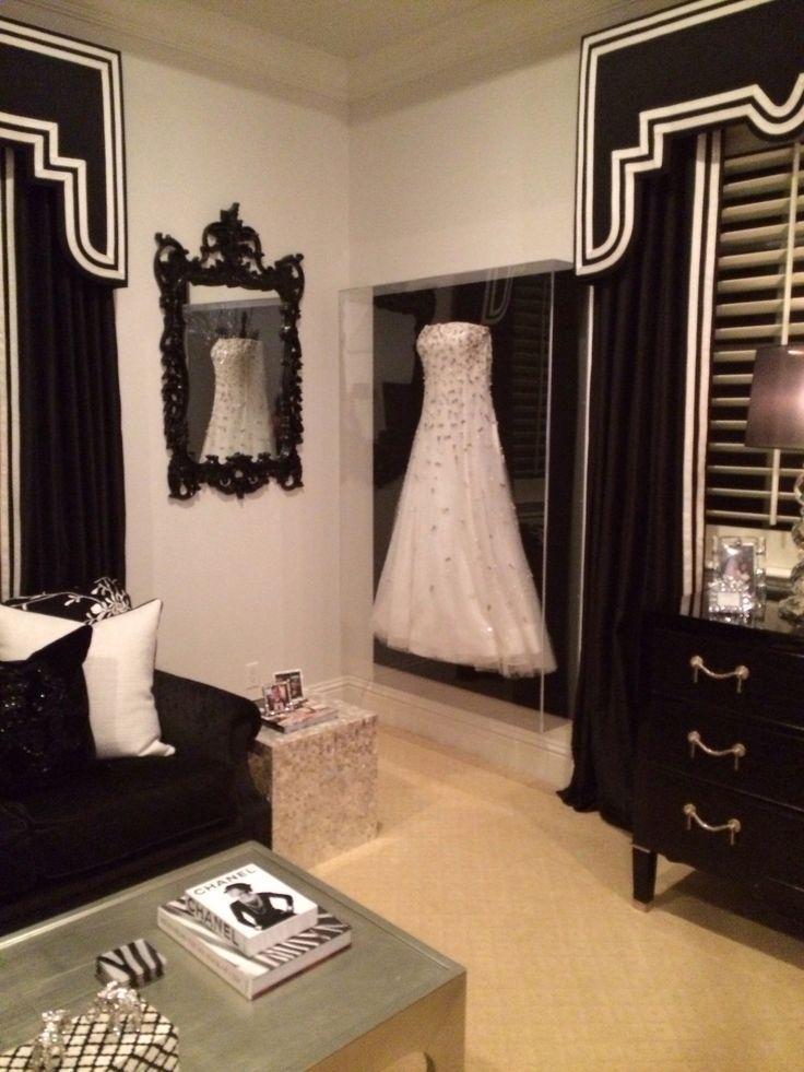 Wedding dress storage in walk in closet idea