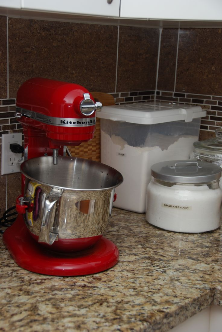 The Inspiration for the accent colour:  My Red Kitchenaid mixer
