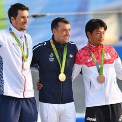 Rio 2016 Olympic Games - Winners celebrations for the Men's Canoe Single Slalom Final