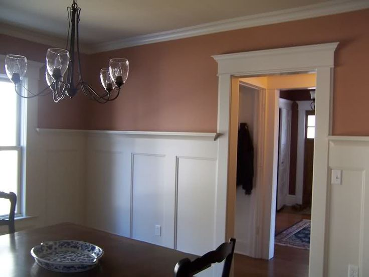 Wainscotting - dining room - like the height of this wainscoting