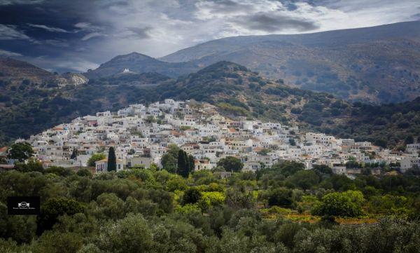 Beautiful village of Filoti, countryside of Naxos