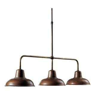 Osteria Triple Pendant Light Antique Brass & Copper from LightCo. Available to order in store from Schots in Melbourne & Geelong, Australia.