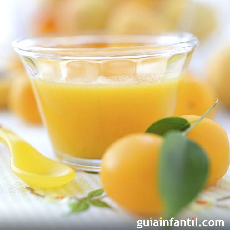La dieta de los bebés empieza a incluir frutas y verduras trituradas, con esta receta de papilla de ciruela, pera y naranja le darás un alimento muy digestivo.