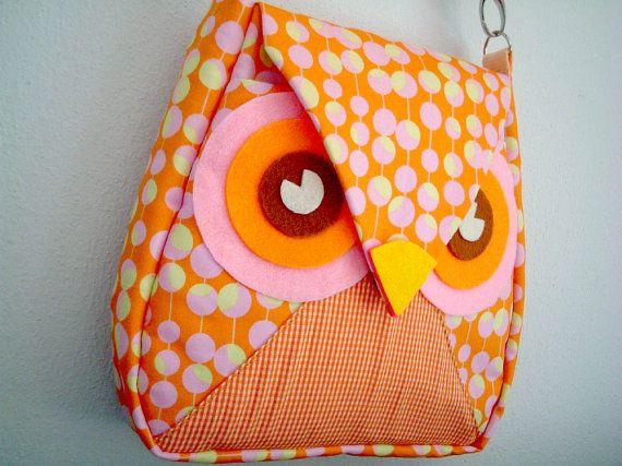 10.5 OFF Orange Owl Messenger Bag by iammieOWLshopCrafts Ideas, Orange Owls, Bags 34, Owls Purses, 105, Owls Ideas, Owls Bags, Owl Bags, Bags