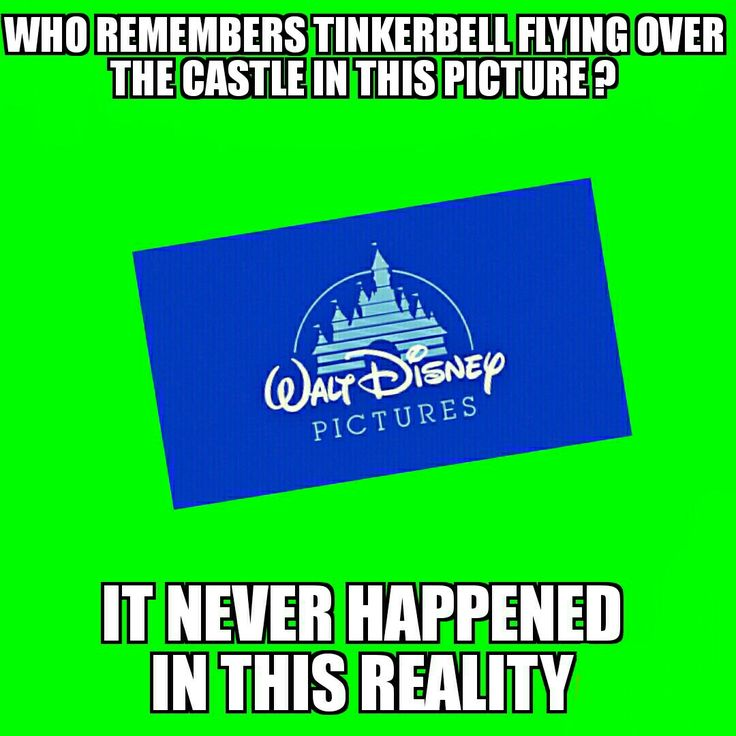 I thought it did had a memory of it because of peter pan buuut indeed there is no tinkerbell ! Welcome to the wonderfull strange world of the mandela effect and oooh boy this is such an interesting topic !