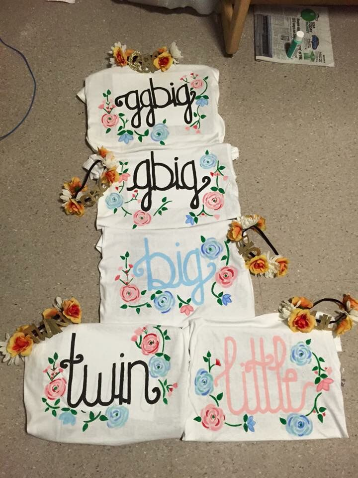 Big little reveal hand painted shirts