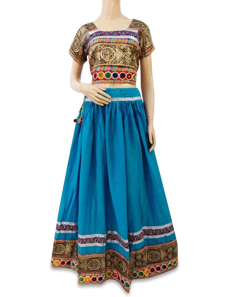 Vintage New Style Rajasthani Lehenga Blue Pure Cotton Fabric EMbroidered Skirt VSK1422 by queensclub on Etsy https://www.etsy.com/listing/226032368/vintage-new-style-rajasthani-lehenga