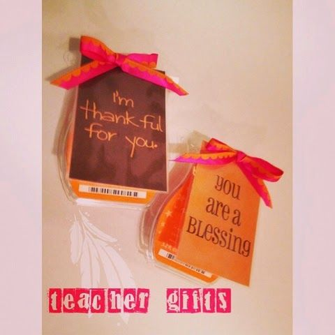 It's All in the Details: Thanksgiving Teacher Gifts pumpkin marshmallow scentsy bricks printable tags