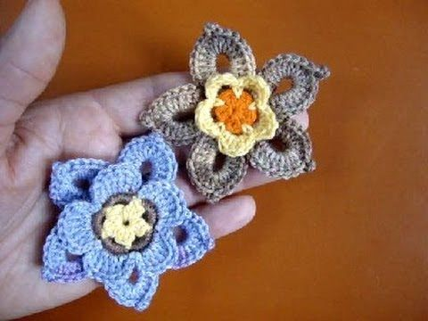 Crochet flower Как связать цветок крючком 60 Pretty crochet flower