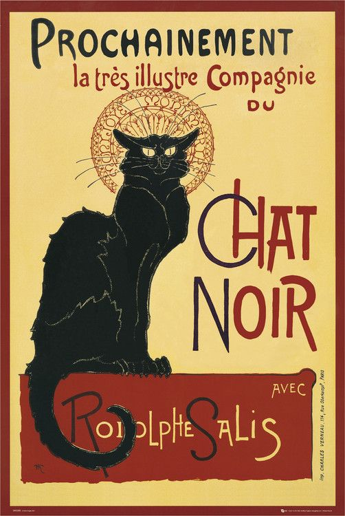 Tämä musta kissa korttina tai julisteena passaa.   LE CHAT NOIR - steinlein Julisteet | Osta heti nettisivuilta Europosters