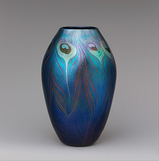 Designed by Louis Comfort Tiffany. Vase, ca. 1900. Tiffany Glass and Decorating…