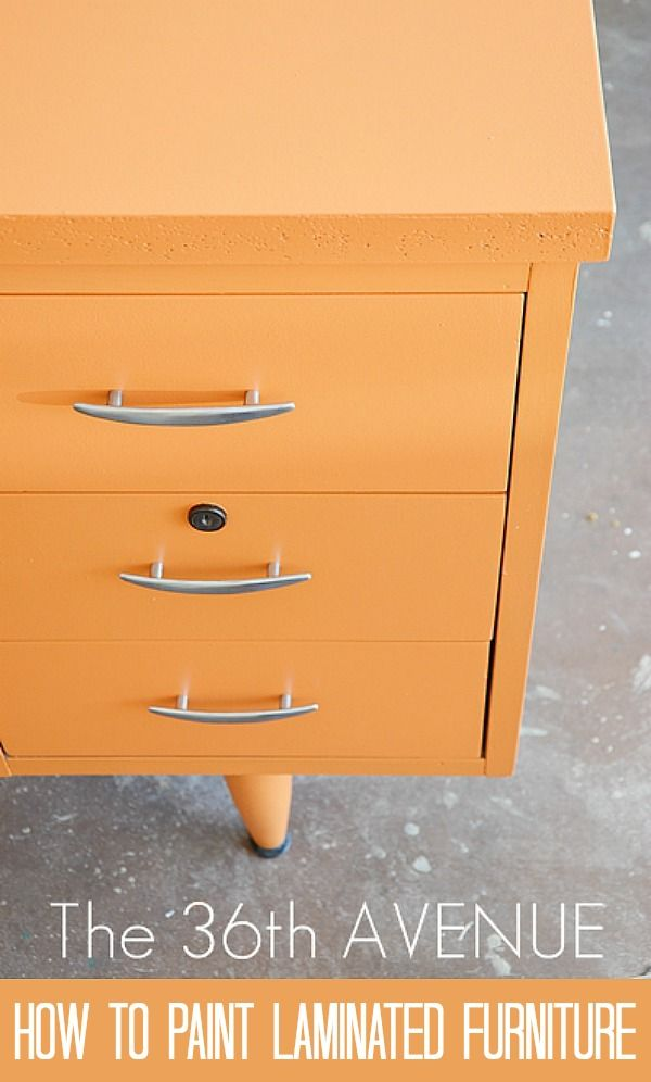 Revamp old laminated furniture with a fresh coat of paint using these simple steps.