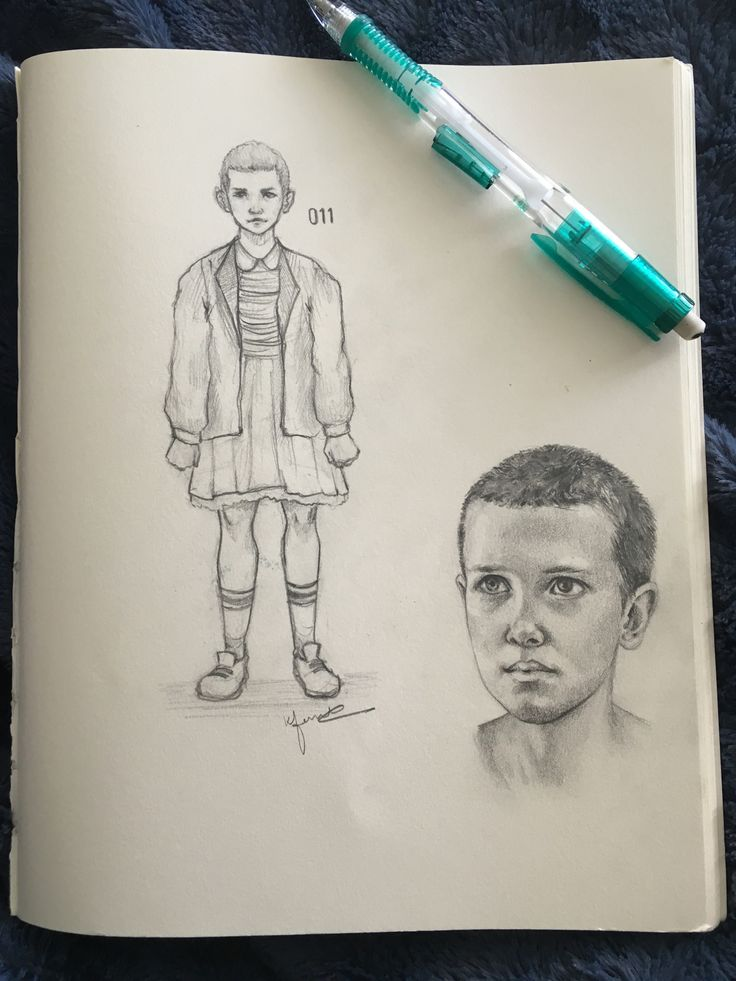 Eleven my beautiful baby millie bobby brown drawings for Eleven tattoo stranger things