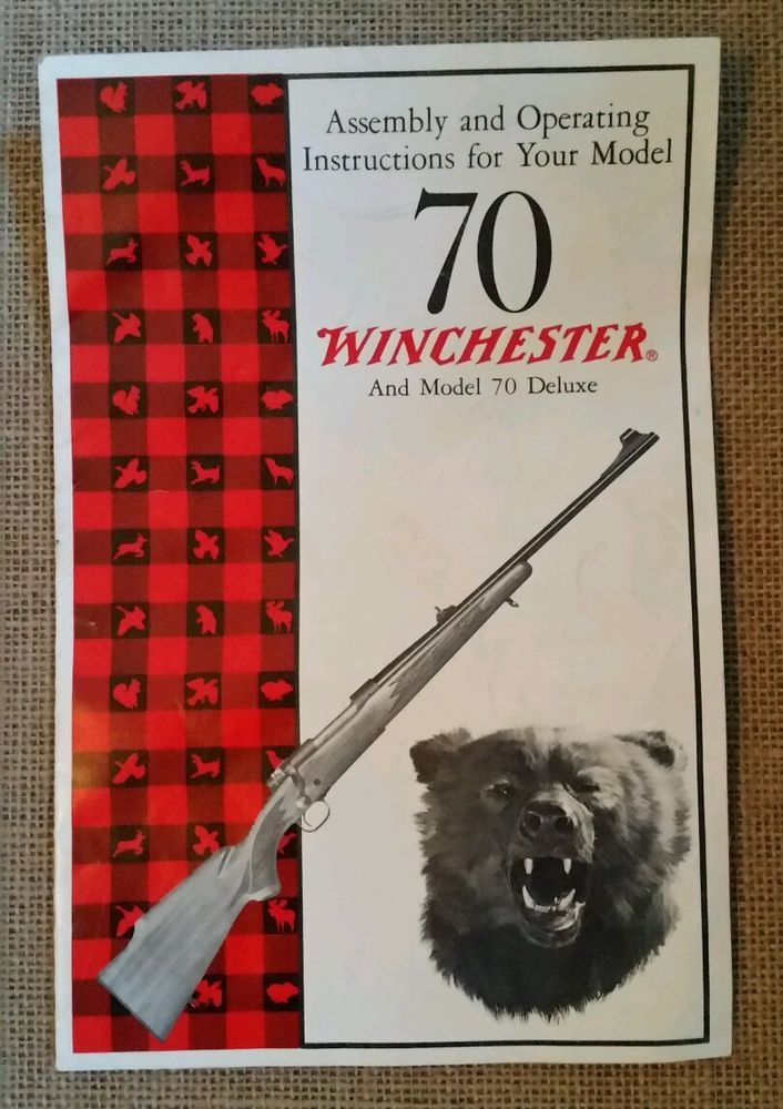 Vintage WINCHESTER MODEL 70 Assembly & Operating Manual Pamphlet #Winchester