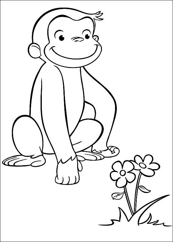 curious george coloring pages birthday-#17