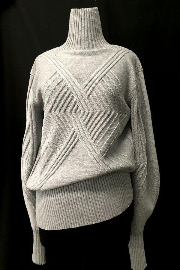 Designer: Buyansan Bayasglan: knitGrandeur: FIT & Baruffa 2/30s Cashwool Collaboration 2016: Term Garment Project
