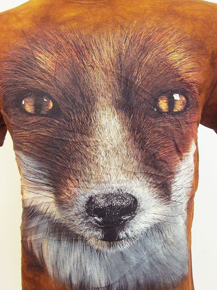 vintage fox vixen animal print nature hipster slim t shirt small - Small Animal Pictures To Print