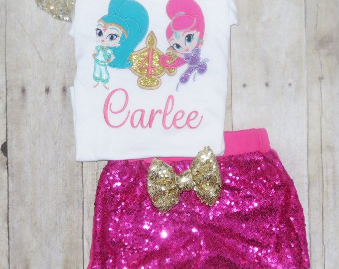 Shimmer and shine birthday outfit Shimmer and shine birthday shirt shimmer and shine birthday invitation genie dress genie tutu