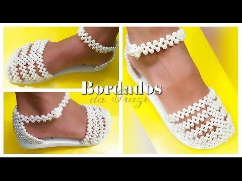 Sandália de pérolas com strass PURO REQUINTE - YouTube