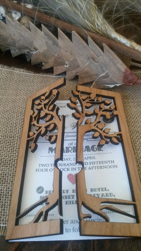 wood wedding card holders%0A This listing is for Engraved Wood Wedding Invitation   This wood Wedding  Invitations are laser