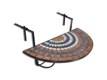 Hängbord, Balkongbord Terrakotta Vit